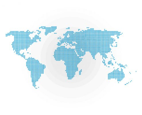Worl Map representing the GLOBAL AEROSPACE AND TECHNOLOGY COMPANY